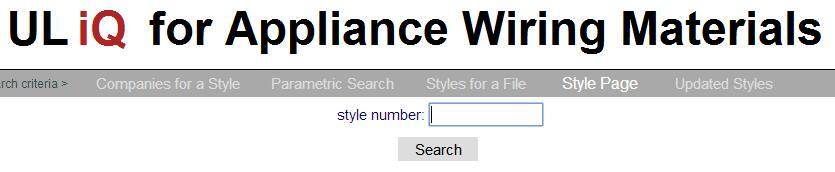 AWM Style Page 电子线规格查询