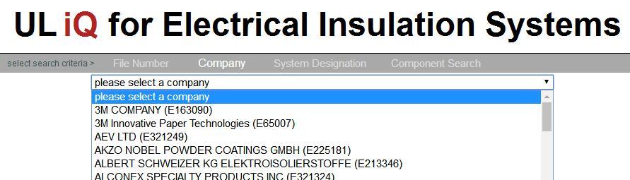 Electrical Insulation System Database 绝缘系统查询