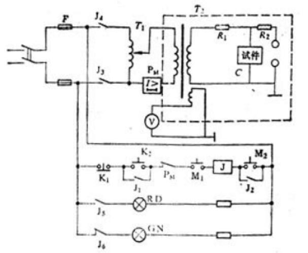 手动升压试验装置线路图