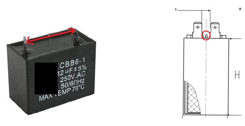 额定电压250VAC的电容,端子间空气间隙需要大于6.4mm,表面爬电距离需大于9.5mm。