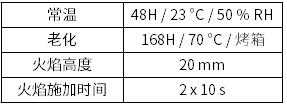 UL 94 V 测试条件