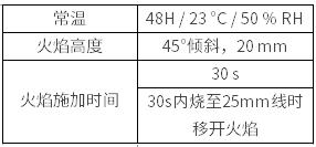 UL 94 HB 测试条件