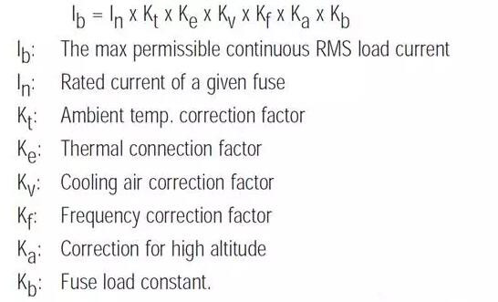 熔断器选型方法