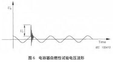 电容器自燃性试验电压波形