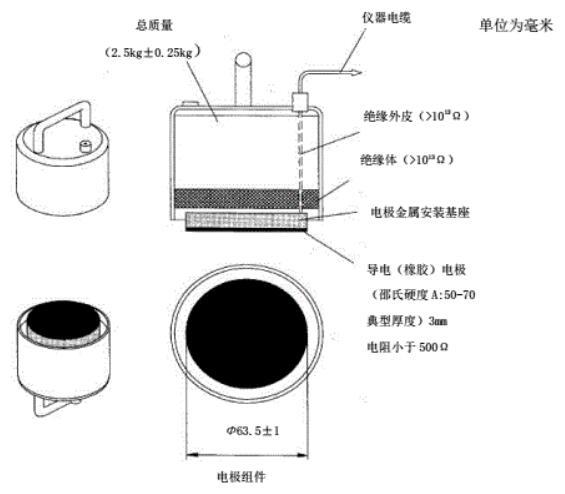 点对点电阻和对地电阻测量的电极组件