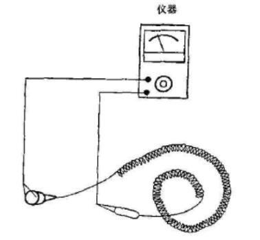 腕带连接电缆两端电阻的测试