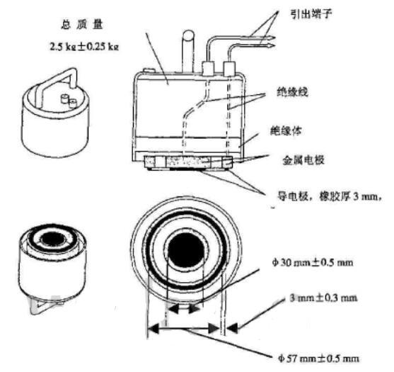 表面电阻测试电极组件