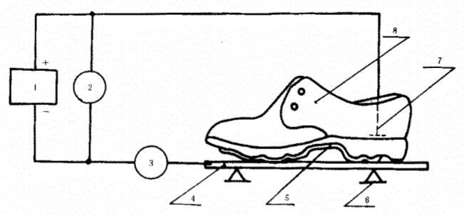 防静电鞋、导电鞋电阻值测量电路
