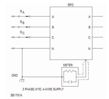 三相漏电流测量电路