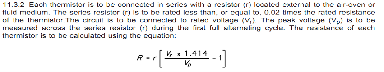 PTC的电阻值通过以下方法计算得出。